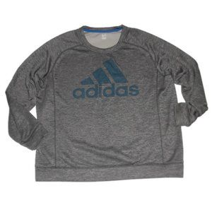 Adidas Gray Space Dye Crew Neck Sweatshirt